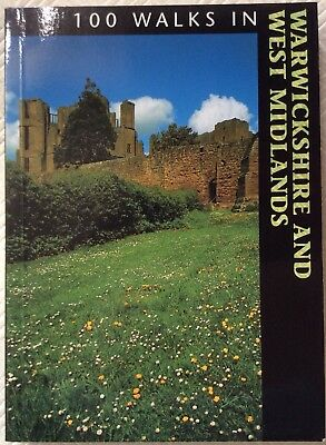 100 Walks in Warwickshire and the West Midlands Paperback Book with Maps - NEW