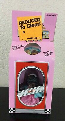 Tyco Dixie's Diner Kids, 1988 Patty Doll and Button / Stand
