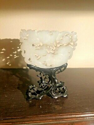 Chinese White Jade Plaque. Xix-Xx Century. From Particular Collection.