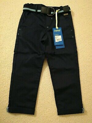 Boys Ted Baker Navy Chinos Age 2-3, New