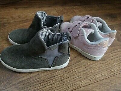 Girls Next ankle boots and canvas trainers bundle UK Inf 7/Eur 24