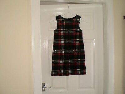 """Dress""""Dunne""""St.Bernard Red Check Pinny Age:10 Years  New With Tags"""