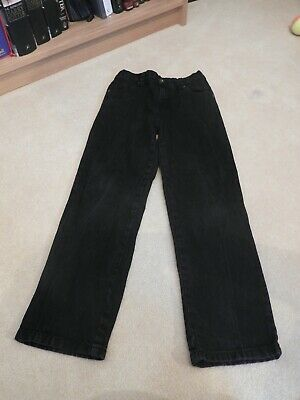 Boys Black Jeans with Adjustable Waist from F&F. Age 9 – 10 Years