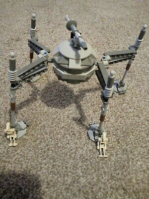 Lego Star Wars 7581 Separatist Spider Droid With 2 Droids Rare Item