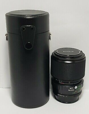 KONICA UC Zoom-HEXANON AR 45-100mm F/3.5  Lens w/ Caps and Case