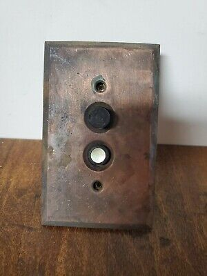 Antique Arrow Push Button Light Switch Porcelain Mother of pearl w/ Cover plate