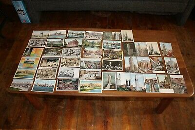 Lot of (43) 1930's-40's Vintage New York City scenes & building Postcards UNUSED