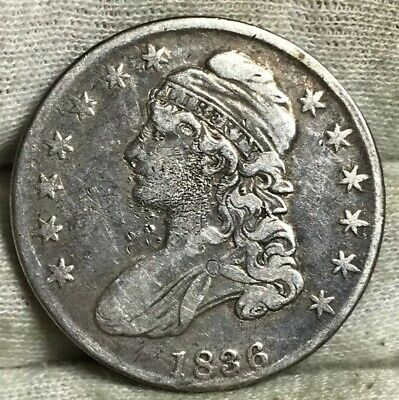1836 Capped Bust Half Dollar FINE** Old Old CLND** Another Starter