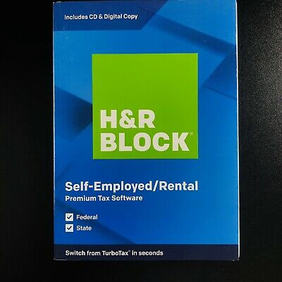 Brand New H&R BLOCK Self-Employed / Rental Premium Tax Software 2019 Sealed