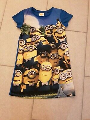 Despicable Me Blue Short Sleeved Polyester Nightdress Age 6-7 Years Girls