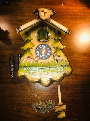 German Made cuckoo clock In Working Condition Complete