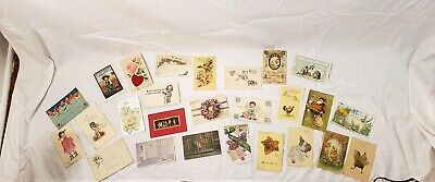 LOT OF 25 VINTAGE POSTCARDS *** USED AND UNUSED , Early 1900s to the late 1950s
