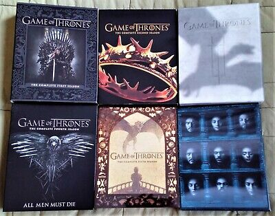 Game Of Thrones Seasons 1-6 Blu-Ray | All With Slipcovers | Viewed Once