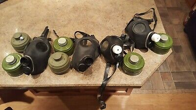 4 NEW Israeli Gas Mask w/ Unissued 40mm/ 2 Adult and 2 Childrens