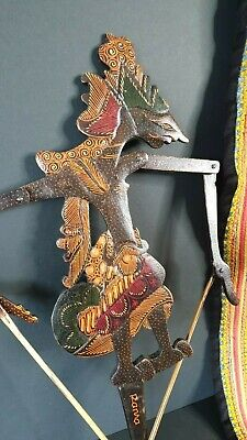 Old Balinese Carved Wooden Stick Puppet …beautiful collection & display piece