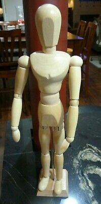 "13"" Artist's Jointed Wood Figure Mannequin"