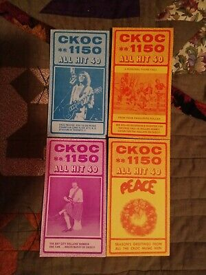 1976 CKOC 1150 Radio Charts lot of 4 excellent condition