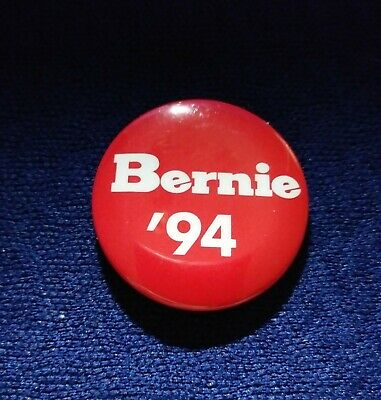 Whodat?? Early Career Bernie Sanders 1994 Congress Frontrunner Political Button
