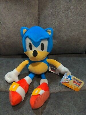 Sonic The Hedgehog Plush Toy Figure Doll 36cm - Sega Game Movie DVD Aussie Stock