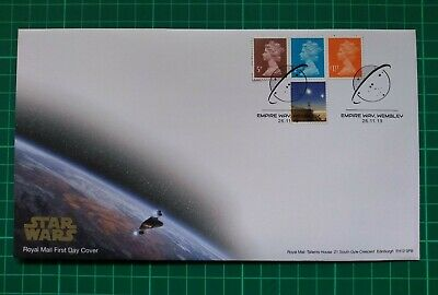 2019 M19L MPIL Machin setof3 5p 2nd & £1.17 Ex-Star Wars PSB Booklet FDC EmpireW