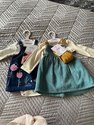 2 marks and spencer baby girl 3-6 months Dress Outfit BNWT.