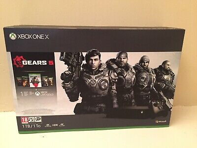 Microsoft Xbox One X 1TB Black Console Boxed With Gears 5