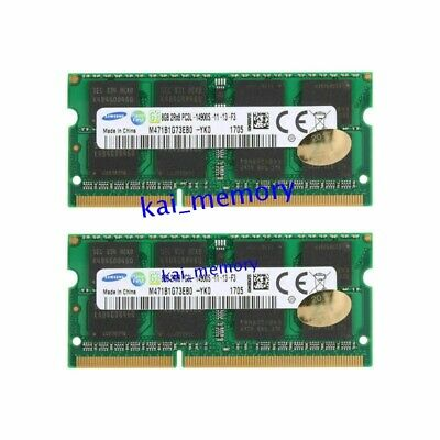 For Samsung 16GB 2x 8GB PC3L-14900 DDR3 1866MHz 204Pin SODIMM Laptop Memory RAM