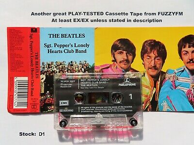 THE BEATLES Sgt. Pepper's Lonely Hearts Club Band UK CASSETTE ALBUM/TESTED