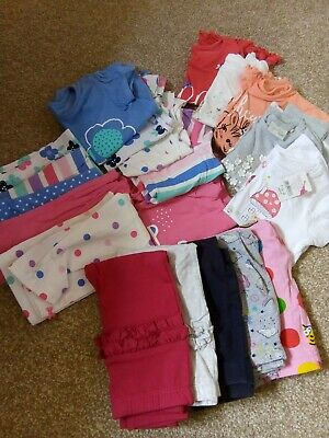12-18-24 months 1-2 years baby girl clothes bundle x20 summer set leggings tops