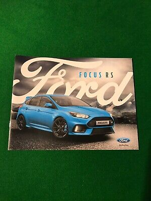 Focus Rs Mk3 Sales Brochure Genuine Ford New Condition