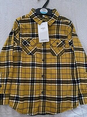 BNWT Marks And Spencer Boys Shirt Age 4-5