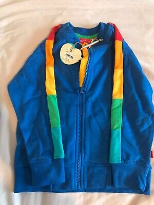 Litte Bird Mothercare 4-5 Blue Zip Top Jacket Rainbow