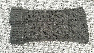 Grey Wool Leg Warmers 24 inches Long. Thick, Chunky Knit. Warm. **