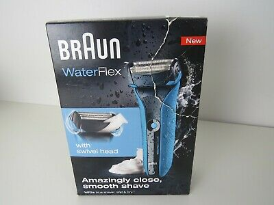 New Braun WF2S WaterFlex Mens Electric Shaver Wet/Dry Cordless -damaged box