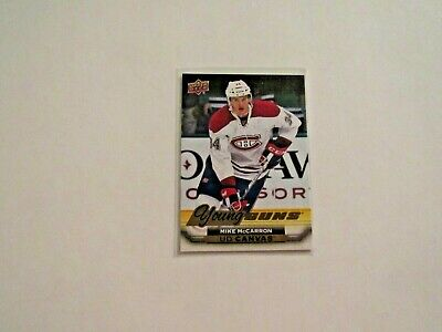 2015-16 UPPER DECK SERIES 2 YOUNG GUNS  CANVAS MIKE McCARRON  CANADIENS C230
