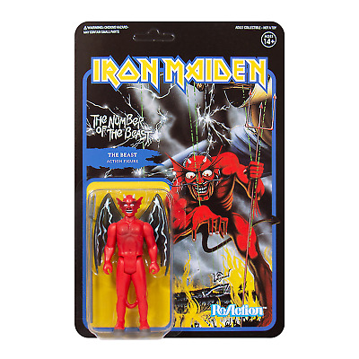 Iron Maiden Number Of The Beast Brand New Super 7 Reaction Action Figure Eddie