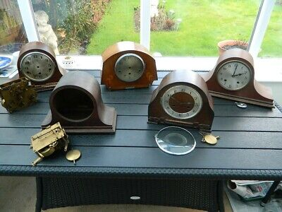5  Vintage Striking Mantel Clocks