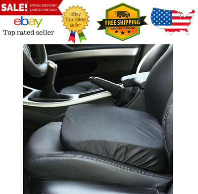 Adult//Driver Car Booster Seat for Visibility Soft Comfortable Black Poly Cover