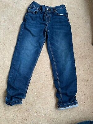 M&S Marks And Spencers Boys Denim Lined Jeans Size 11-12 Years