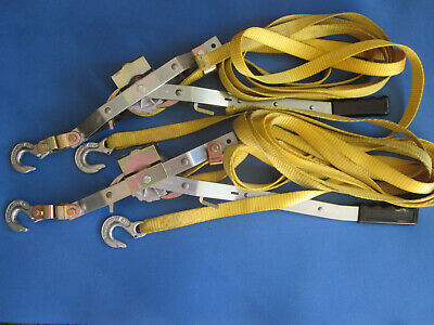 A pair of Maasdam Pow'r-Pull 1 ton Strap Pullers