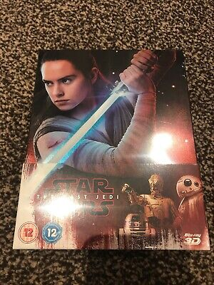 Star Wars The Last Jedi 3D Blu Ray Steelbook NEW & SEALED