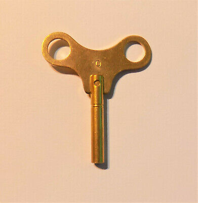 New Brass Winding / Clock Key For Mantle & Bracket Clock Size 0 / 2.25 mm
