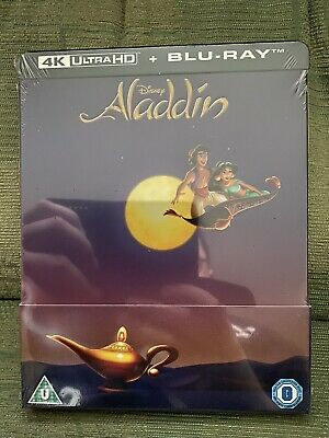 Aladdin, 4K UHD Blu Ray, Steelbook, New & Sealed