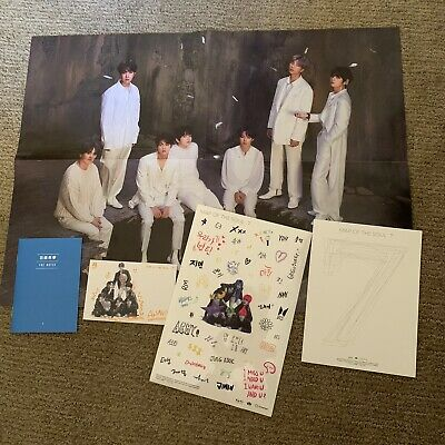 BTS Map of the Soul 7 Folded Poster, Notes, Postcard, Stickers etc Version 1