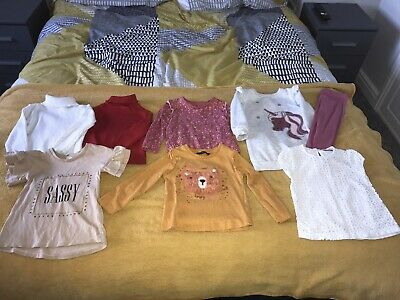 Girls Bundle Of Tops Age 2/3 Years From River Island, George, Primark