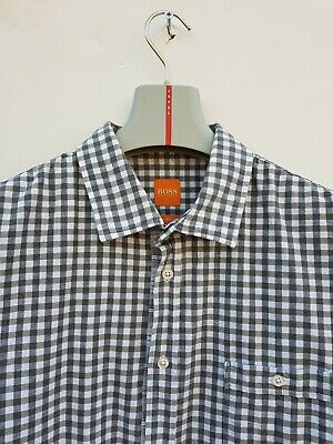 Hugo Boss Slim Fit Gingham Oxford Shirt Xl Excellent Condition!