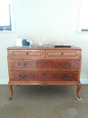 French Burr walnut chest of drawers 1920's
