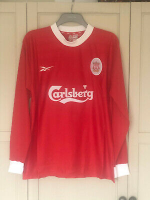 Liverpool FC 1998 1999 2000 LS Long Sleeve Home Football Shirt Retro LFC SIZE XL