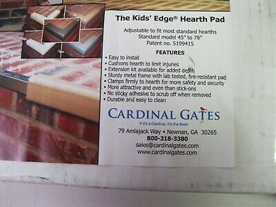Cardinal Gates Kid's Edge Metal Backed Black Hearth Guard  Brown