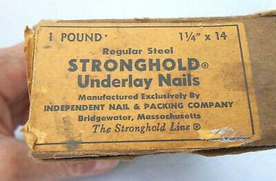 """Vintage Stronghold Underlay Nails 1 1/4"""" x 14 - Independent Nail & Packing Co."""